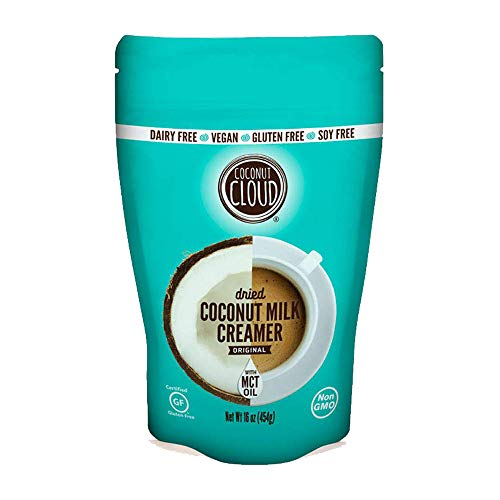 Coconut Cloud: Unsweetened Coconut Milk Powder + MCT OIL | Shelf Stable Coffee Creamer & Milk Replacement (Keto & Allergy Friendly, Lactose, Gluten & Soy Free, Plant Based), USA Made, 16 oz