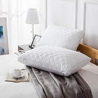 NA Adultos Sleep Cinco Estrellas de Coser de algodón Lavado del Terciopelo de algodón Almohada de Plumas de Almohadas acolchar (Color : Quilted Hotel Pillow)