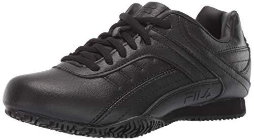 Fila Women's Memory Elleray 5 Slip Resistant Work Shoe Hiking, Black, 7