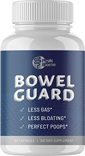 Peak Biome: Bowel Guard - Plant-Based Active Digestive Enzyme Supplement with Probiotics to Help with Gas, Bloating, Liquid Stools and Stomach Pain Relief - 30-Day Supply - Paleo - Keto
