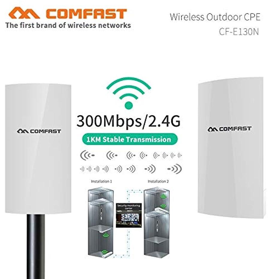 IPカメラ用1KM 300Mbps屋外ミニWIFI CPEワイヤレスAPブリッジアクセスポイントWI-FIアンテナNanostation CPE (2PCS)