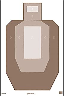 IPSC Paper Target w/Visible Scoring Zones Perfect for Competitive Practice and can Help Shooters Build Accuracy Before Moving to Official Cardboard Version Ink: Brown Size: 23