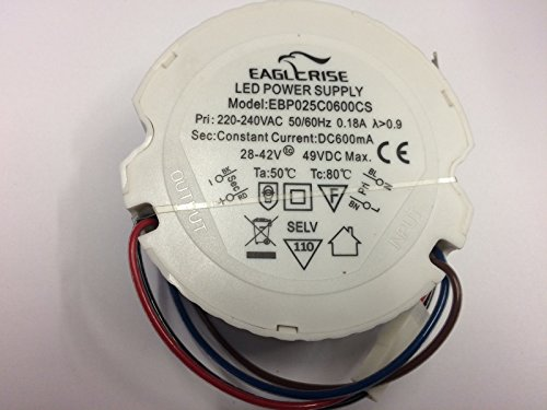 LED Driver Eaglerise 25W 600mA EBP0250600CS Power Supply Treiber rund