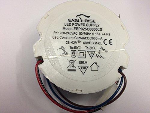 LED Driver Eaglerise 25W 600mA EBP0250600CS Power Supply Treiber rund
