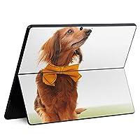 igsticker Surface Pro X 専用スキンシール サーフェス プロ エックス ノートブック ノートパソコン カバー ケース フィルム ステッカー アクセサリー 保護 002852 アニマル 犬 動物 写真