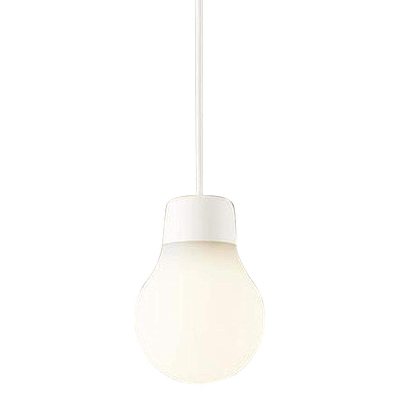 アイドルデザート服パナソニック ペンダントライト LAMP DESIGN LGB10418WCE1 直付 電球色 白紐 奥行10×高さ10×幅14.5cm