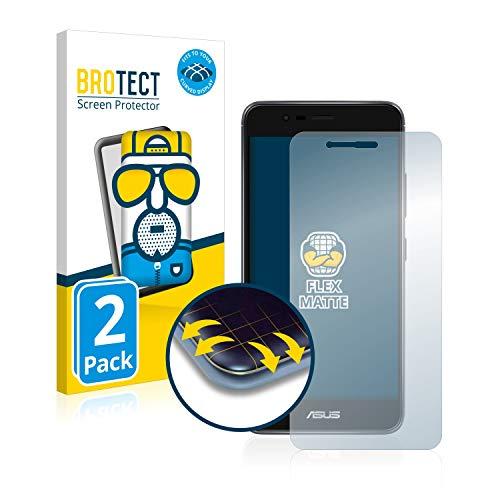 BROTECT Full-Cover Schutzfolie Matt kompatibel mit Asus ZenFone 3 Max ZC520TL (2 Stück) - Full-Screen Bildschirmschutz-Folie, 3D Curved, Anti-Reflex