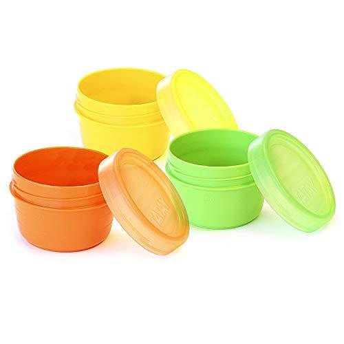 Lote de 3 Contenedores Portafruta TATAY en Plástico PP Libre de BPA de 0.2L. Ideal para fruta, Snacks o Papilla. Colores Surtidos