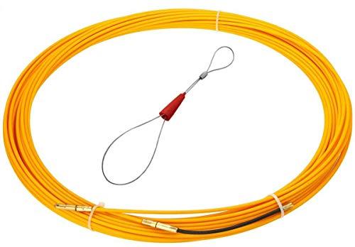 RUNCCI-YUN Kabel-Einziehhilfe 20m mit Führungsfeder Öse Nylon Einziehdraht Kabel