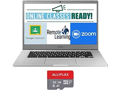2020 Newest Samsung Chromebook 4+ 15.6 Inch FHD 1080P Laptop, Intel Celeron N4000 up to 2.6 GHz, 4GB RAM, 64GB eMMC, Bluetooth, Webcam, Chrome OS + AllyFlex 64GB MicroSD(Google Class Room Ready)