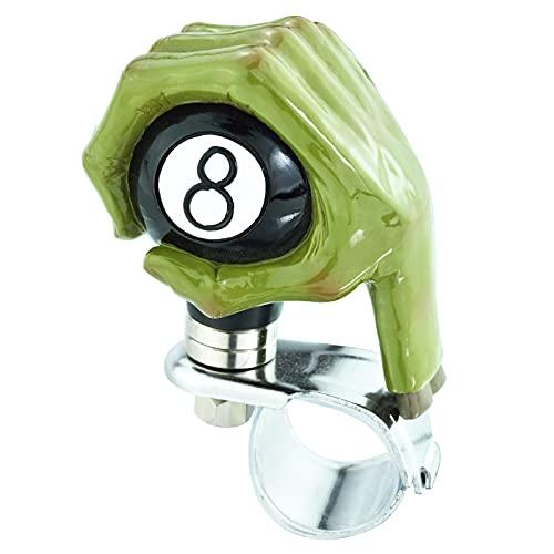 Lunsom Heavy Duty Truck Steering Wheel Knob Hand Hold 8 Black Ball Quick Release Custom Suicide Spinner Knob