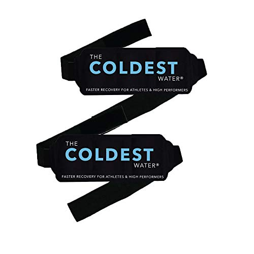 """The Coldest Ice Packs with Straps - Therapy for Pain and Injuries of Knee, Shoulder, Foot, Back, Ankle, Neck, Hip, Elbow (5.6"""" x 7.4"""" Pack of 2)"""