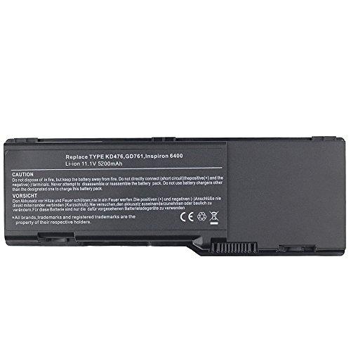 5200mah Notebook Laptop Akku für Dell Inspiron 1501 6400 E1501 E1505 6400 Latitude 131L Vostro 1000 KD476 GD761 GD761 UD267 0UD264 HK421 TD347 Battery Batterie