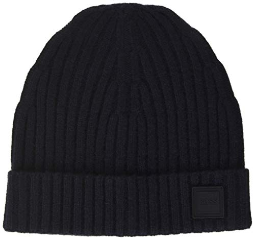 BOSS Mens Krafeno Beanie Hat, Dark Blue (404), ONESI