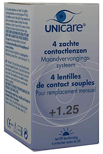Unicare Maandlenzen +1.25, 4 Stuk