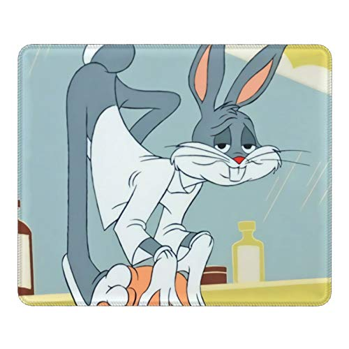 Funny Bugs Bunny Mouse Pad Bracer Gaming Mouse Pad Creativity Optics Mouse Pad Smooth Surface Waterproof Non-Slip Base Laptop Office Accessories(25X30cm)