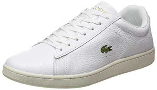 Lacoste Herren Carnaby Evo 0120 2 SMA Sneaker, Weißes Wht Blk, 44 EU