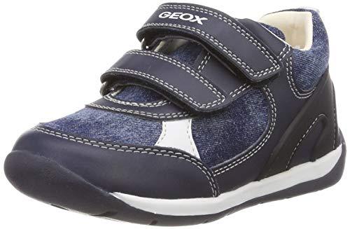 Geox Baby Jungen B Each Boy D Sneaker, Blau (Navy C4002), 18 EU