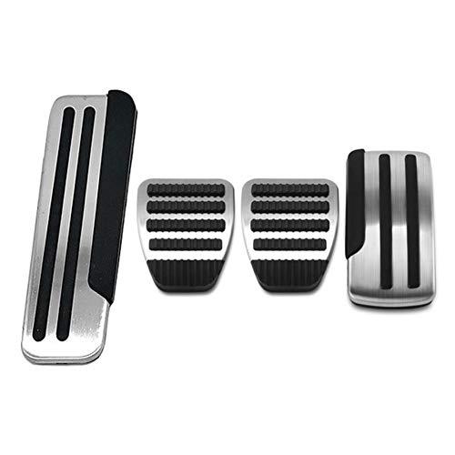 ZHHRHC Edelstahl Auto Bremse Kupplung Pedal Fußpedal Verkleidung Zubehör, Für Nissan X Trail T31 Qashqai J10 2008-2013