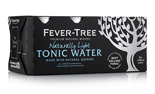 Fever-Tree Naturally Light Tonic Water 8 x 150 ml (Pack of 3, Total 24 Cans)