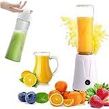 HBIAO Babynahrungszubereiter, Tragbare Elektrische Entsafter Obst Mixer Fleisch Shake Mixer Saft Maschine Sport Flasche Saft Tasse,Weiß