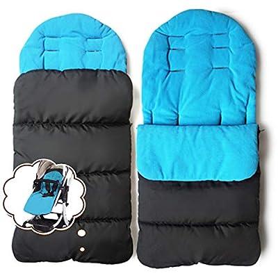 jiele para carrito de bebé Universal cómodo caliente cubierta Toe invierno resistente al viento cálido saco de dormir para carrito de bebé algodón cojines asiento maletero