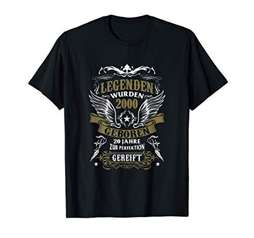20. Geburtstag Geschenk Männer Retro Legendär Seit Juli 2000 T-Shirt