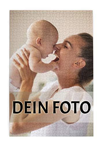 Personalisierte Foto-Puzzle 1000 Teile, Individuelles Puzzle mit eigenem Foto, Puzzle mit eigenem Bild selbst gestalten, personalisiertes Fotogeschenk für Geburtstag Muttertag (50x75cm/19.7x29.5in)
