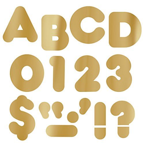 "TREND enterprises, Inc. Gold Metallic 4"" Casual UC Ready Letters"