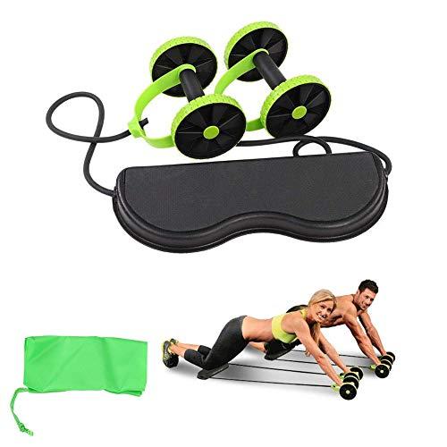 BABI Sport Core Double AB Roller Übungsgeräte, professionelle Ab Wheel Roller unterstützt, Abdominal Workout Maschine, Ideal Männer Frauen Home Gym Coaster Pull Roda Waist Slimming Trainer