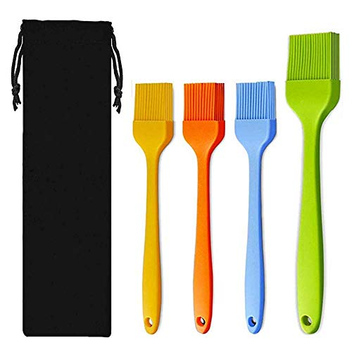 Zibnwee Silikon Backpinsel Grillpinsel BBQ-Pinsel, Weich und Hitzebeständig Verbreitung Öl...