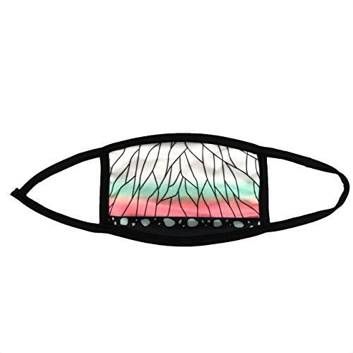 マスク 鬼 滅 子供用 キッズ お子様 市松模様 洗えるマスク 和柄 マスク 1パック1枚入り 蝶の羽(白×黄緑×ピンク)