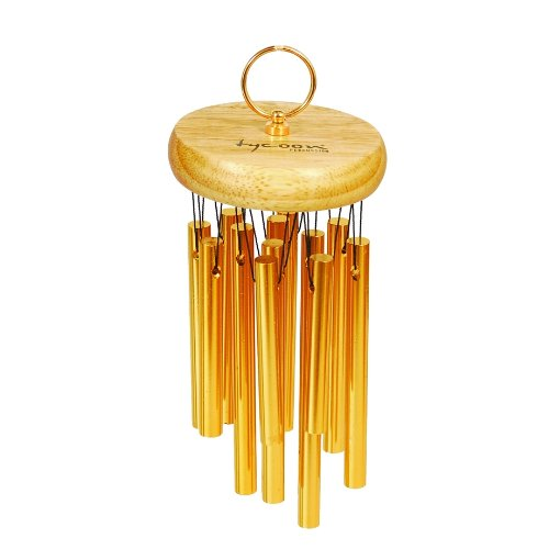 Tycoon Percussion 18 Gold Plated Chimes On Siam Oak Bar