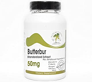 Butterbur Standardized Extract 50mg ~ 180 Capsules - No Additives ~ Naturetition Supplements