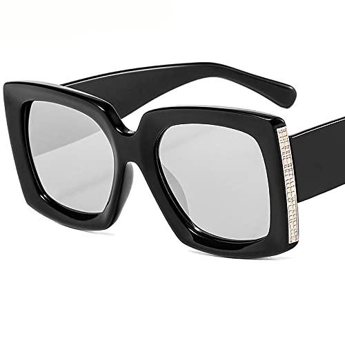 Powzz ornament Gafas de sol cuadradas Vintage para hombres y mujeres, gafas de sol Retro Punk, gafas De sol para mujer y hombre, gafas De Sol Steampunk UV400-6_Universal