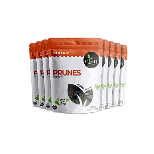 Elan Organic Pitted Prunes 8 Pack, 63.2 Oz