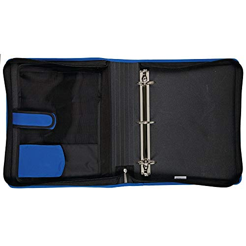 Five Star Zipper Binder, 2 Inch 3 Ring Binder, 6-Pocket Expanding File, Durable, Blue (72534) Photo #2