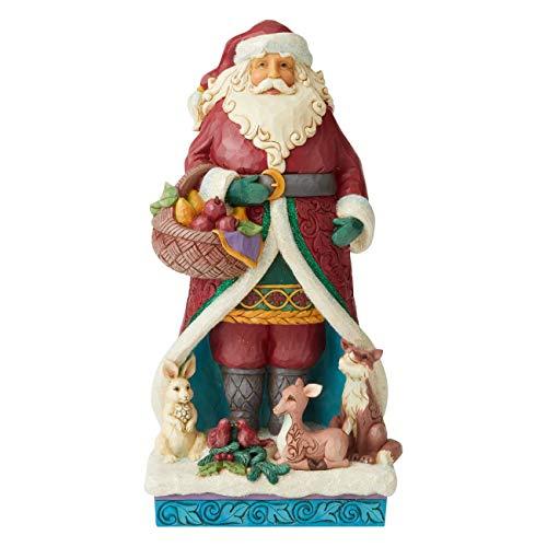 Enesco Jim Shore Heartwood Creek Winter Wonderland Santa with Animals Figurine, 12.4 Inch, Multicolor