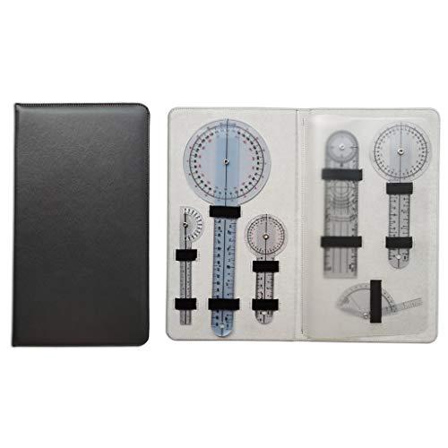 BIlinli 3/5/6 Unids/Set 180/360 Grados Goniómetro Dedo Arti