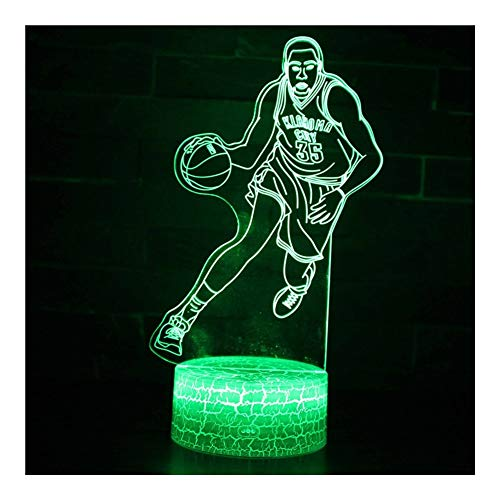 Best Review Of TXOZ 7 Colour Basketball Light 3D Illusion LED Night Light, Gradual Changing Touch Sw...