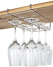 Bafvt Wine Glass Holder - 2 Rows Stemware Rack Under Cabinet - 304 Stainless Steel Hanger Storage Shelf, Fit for The Cabin...