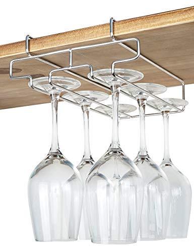 Our #7 Pick is the Bafvt Wine Glass Holder Under Cabinet Hanger