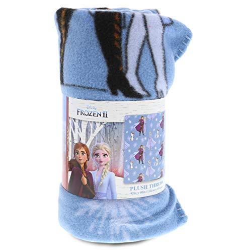Manta de forro polar mágica de Disney Frozen – Manta de lana para niños y niñas de princesa Elsa y Anna, suave y acogedora, de felpa ligera, para decoración de cama, tamaño 114 x 152 cm