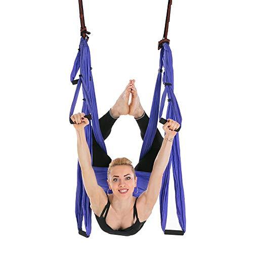 HeegNPD Yoga Hangmat voor yoga, anti-zwaartekracht-antenne, riem, materiaal met hoge sterkte, decoratieve hangmat, yoga-schommel, fitness training