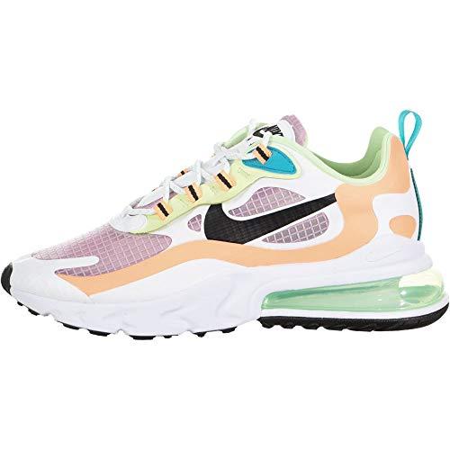 Nike W Air MAX 270 React Se, Zapatillas para Correr Mujer, lt Arctic Pink/Black-Orange Pulse-White, 37.5 EU