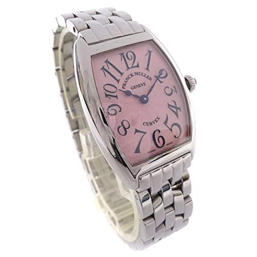 フランクミュラー FRANCK MULLER トノーカーベックス 1752QZ 腕時計 シルバー レディース クオーツ ピンク文字盤 [中古]
