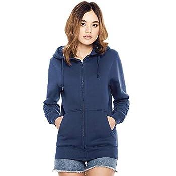 Underhood of London Burgundy Red Zip Up Hoodie for Women | Lightweight Cotton Womens Jacket| X-Small