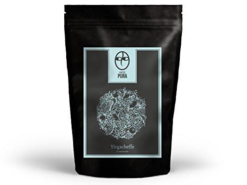 KAFFEE PURA Yirgacheffe, Bio & fair, 1000g ganze Bohne, Hochlandkaffee aus Äthiopien