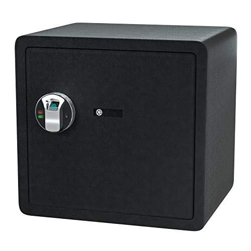 Jolitac Biometric Cabinet Safes for Home, Fingerprint Security Safe Box Fireproof Solid Carbon Steel Locking Safe Case for Gun, Money, Jewelry (1.72 Cubic Feet)