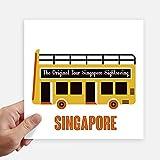 DIYthinker Square Singapur Turismo de traslado en autobús Pegatinas Pared de 20 cm Maleta portátil Motobike Decal 4 Piezas 20cm x 20cm
